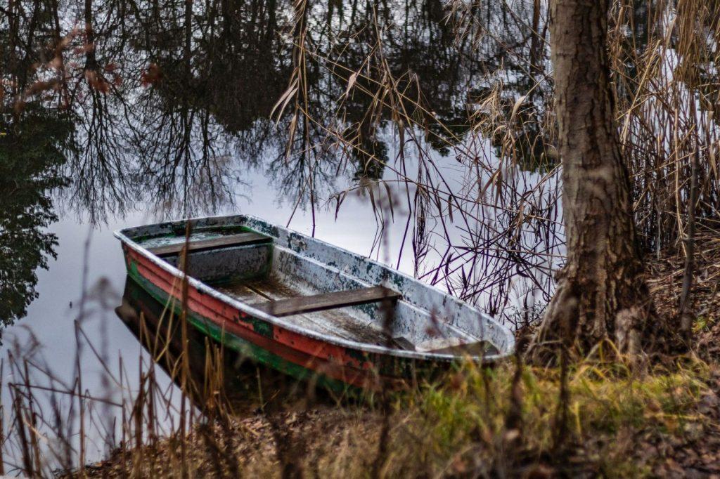 Boot im Blanken Teich